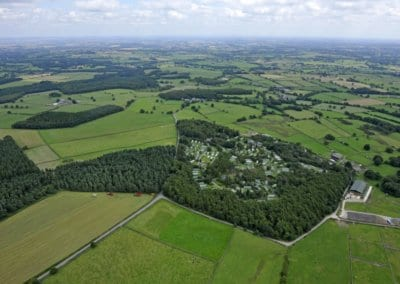 Aerial View of Warren Forest Park Nidderdale